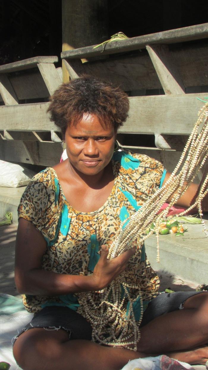 Muschelgeld am Markt von Kokopo